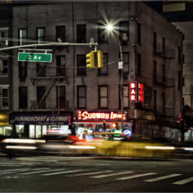 2nd Ave and East 60th_Al Brown_Assigned Salon Night Photography_Honorable Mention