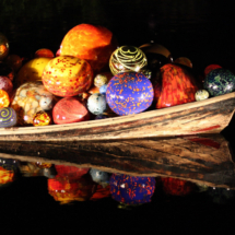 Chihuly Canoe_Carol Gaffney_Assigned B Night Photography_Honorable Mention