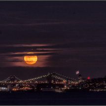 Super Moon Over the Hudson_Dyan Bryson_Assigned A Night Photography_Honorable Mention