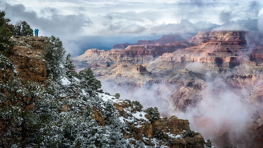 Image of the Month - A - Fog Over the Grand Canyon by Ryan Kirschner